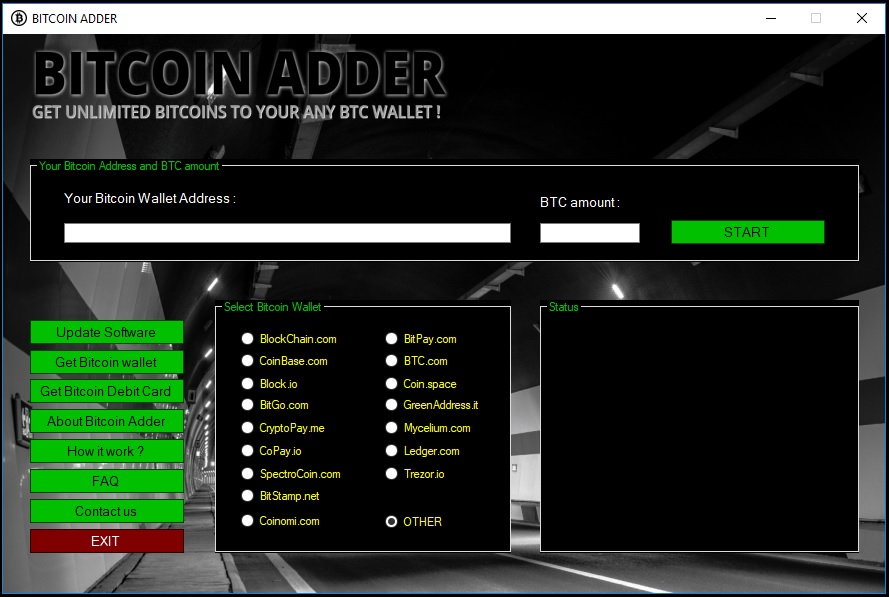 BITCOIN BTC ADDER - GET UNLIMITED BITCOINS TO YOUR ANY BTC WALLET !